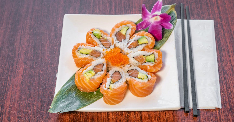 Salmon Lover Roll from Sakura Sushi in San Rafael, CA