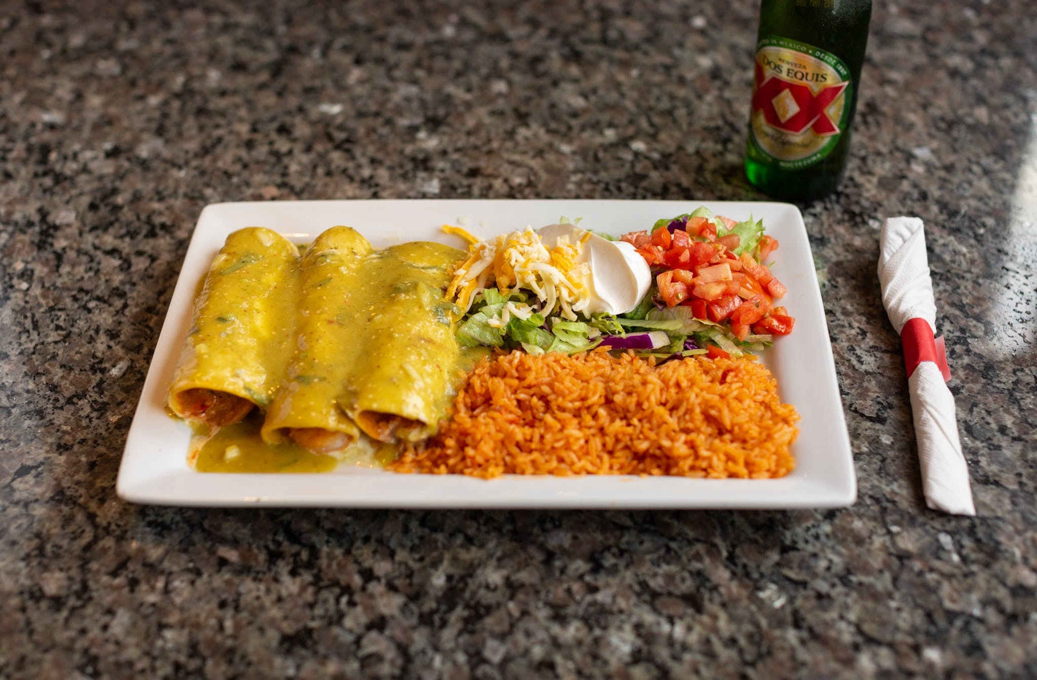 Enchiladas Lawrence from El Mezcal in Lawrence, KS