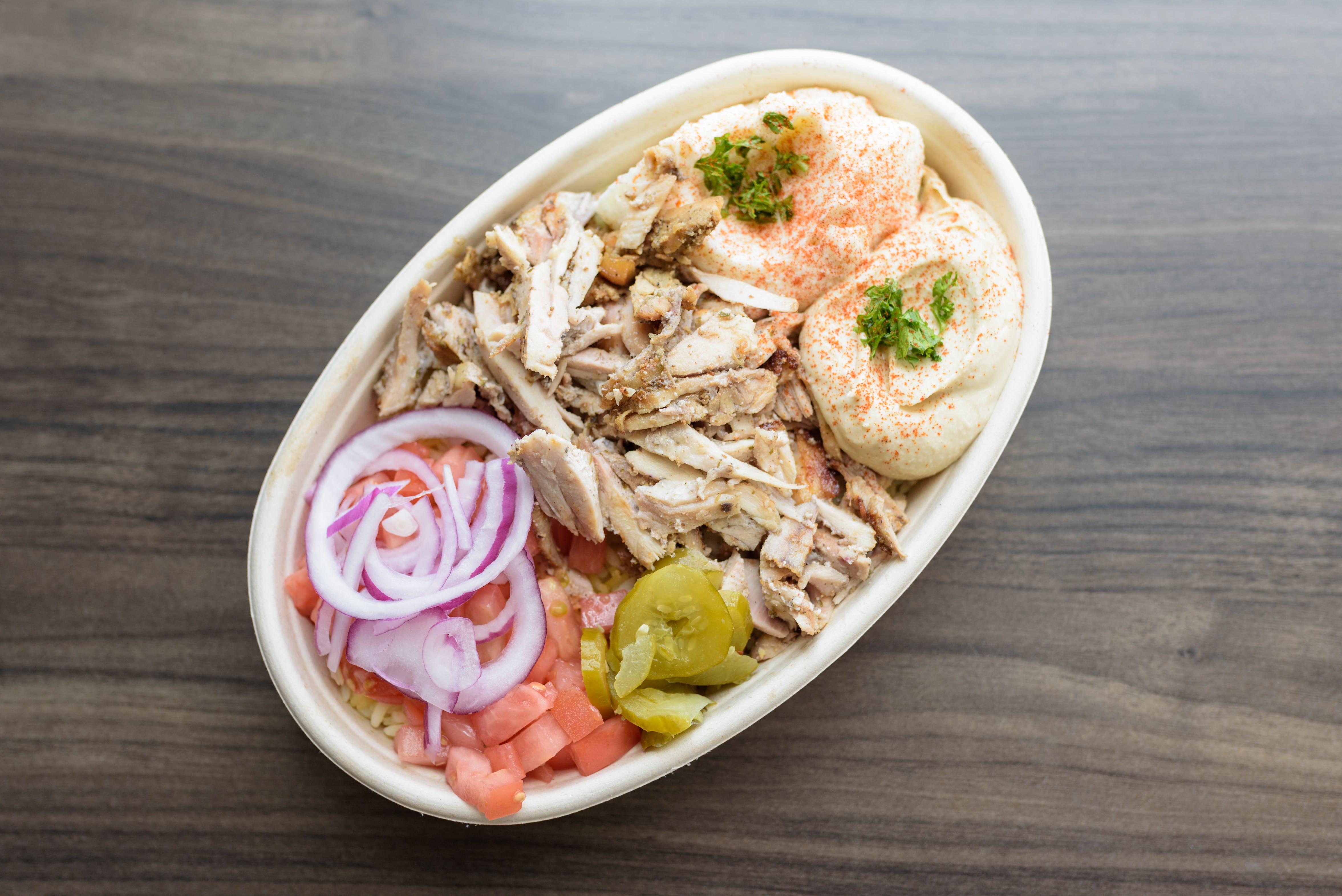 Chicken Shawarma Bowl from Baba Dari Ann Arbor in Ann Arbor, MI