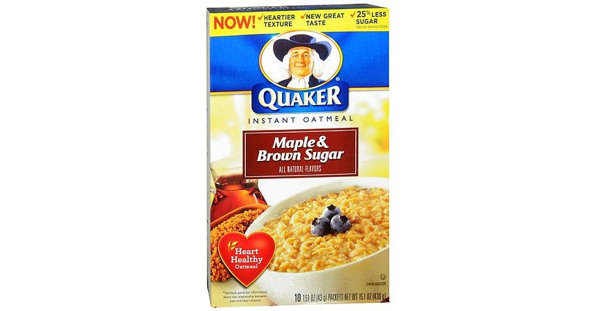 Quaker Instant Oatmeal Maple & Brown Sugar (2 oz) from EatStreet Convenience - W Mason St in Green Bay, WI