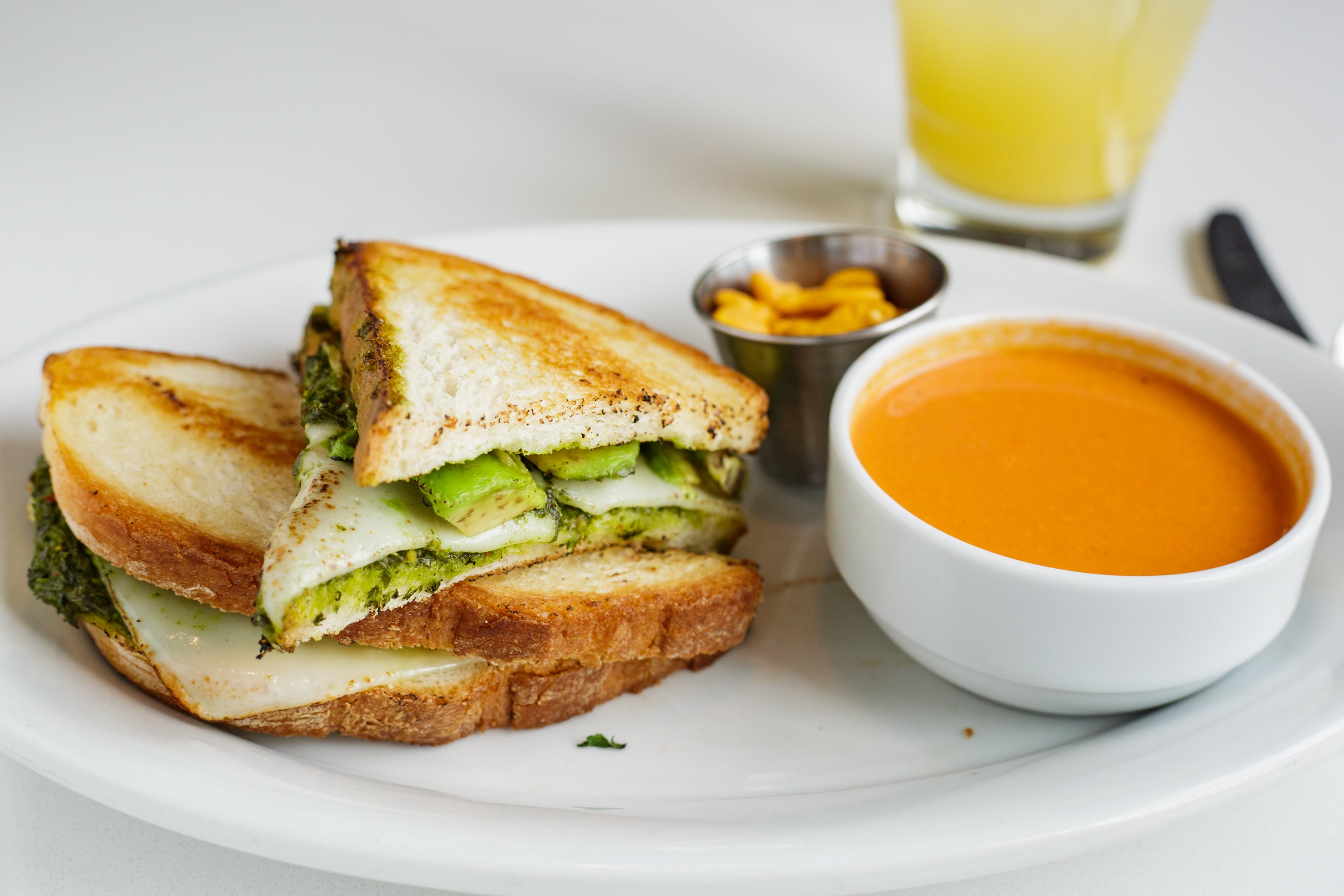 Green Goddess Grilled Cheese from Bassett Street Brunch Club in Madison, WI