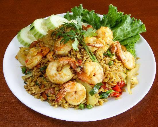 72. Kao Pad Karee (Dinner) from Sa-Bai Thong - University Ave in Madison, WI