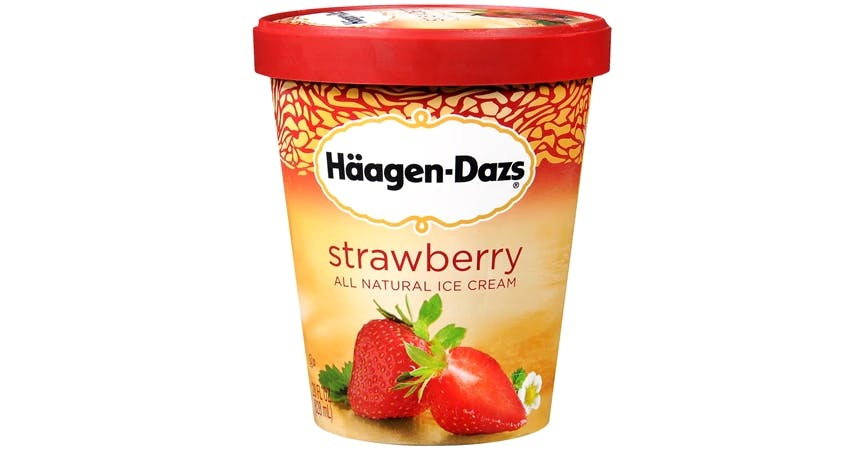 Haagen-Dazs Ice Cream Strawberry (14 oz) from EatStreet Convenience - SW Gage Blvd in Topeka, KS