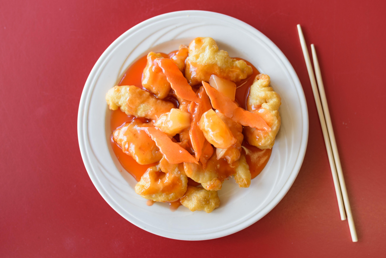 Sweet & Sour Chicken from Chan Garden in Ann Arbor, MI