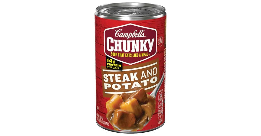 Campbell's Chunky Steak & Potato Soup (18.8 oz) from EatStreet Convenience - W Mason St in Green Bay, WI