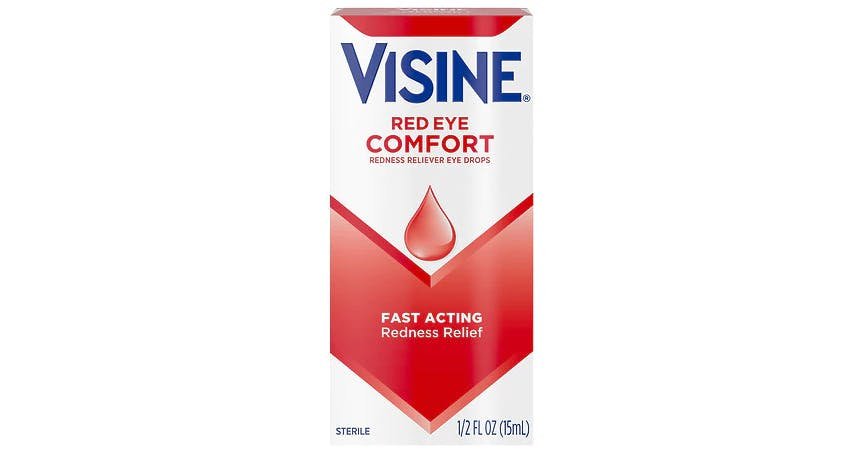 Visine Red Eye Comfort Redness Relief Eye Drops (0.5 oz) from EatStreet Convenience - Historic Holiday Park North in Topeka, KS