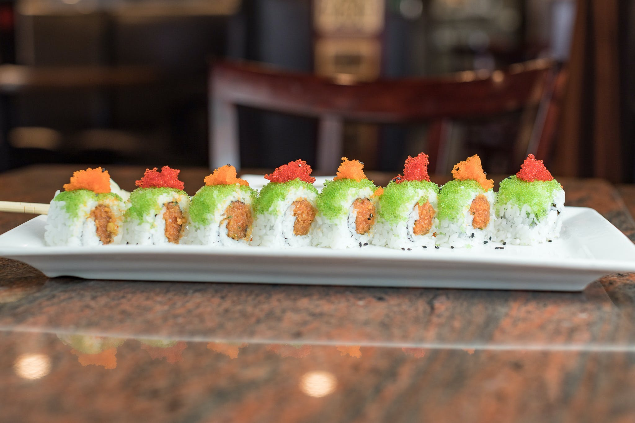 Wasabi Tobiko Roll from Shanghai Bistro in Eau Claire, WI
