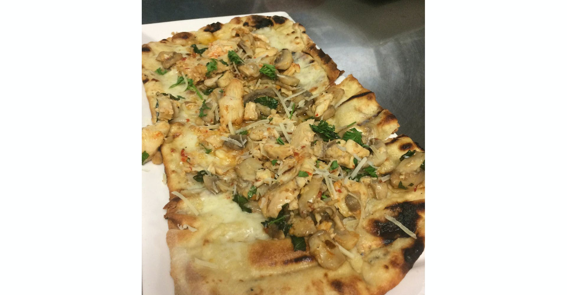 Spicy Garlic Flatbread from Grazies Italian Grill in Stevens Point, WI