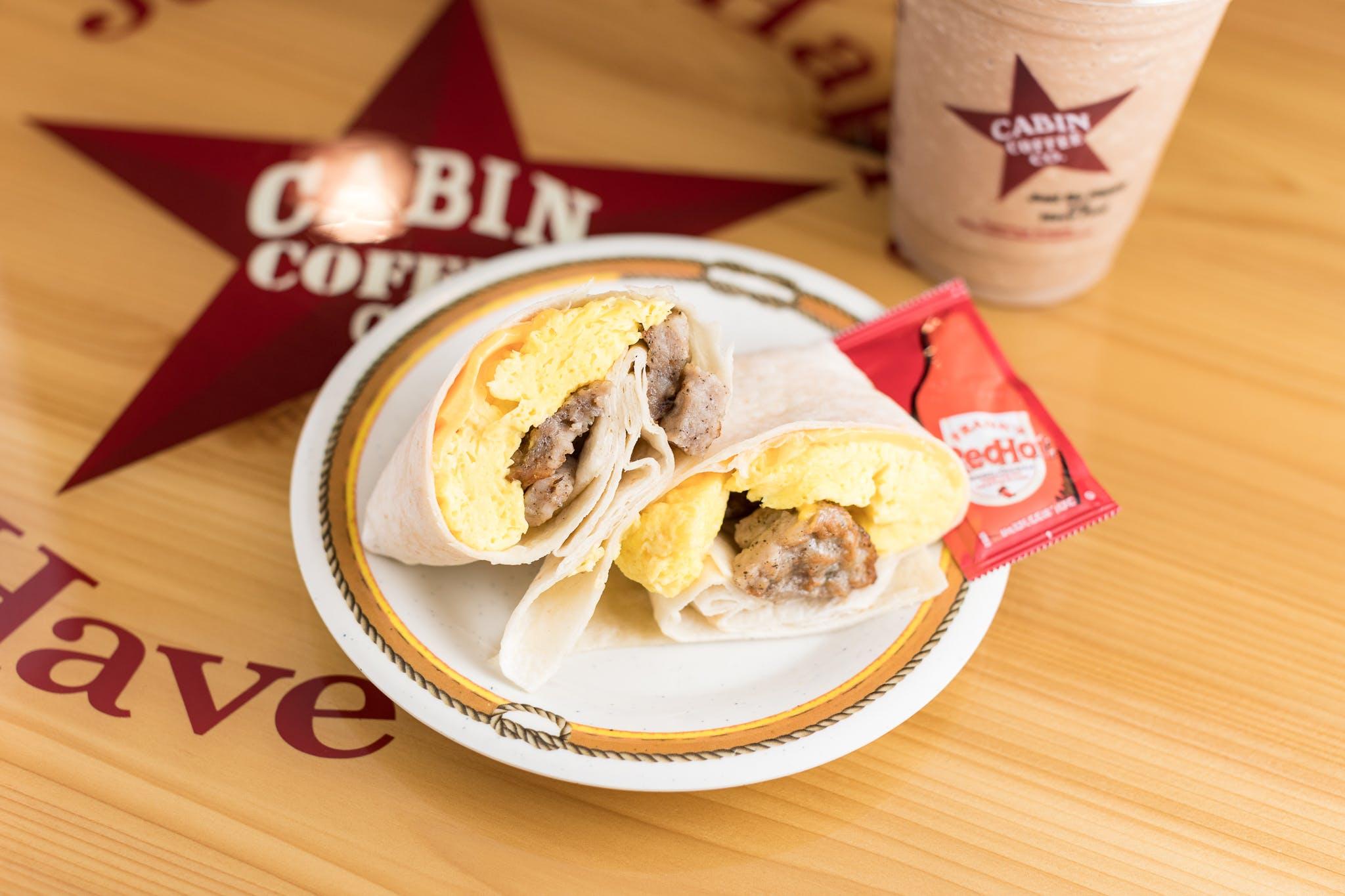 Southwest Breakfast Wrap from Cabin Coffee Co. in Altoona, WI