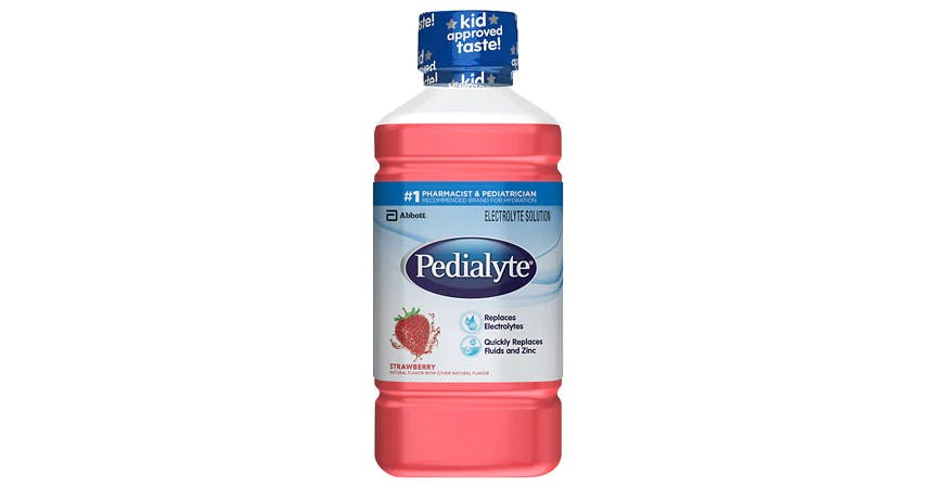 Pedialyte Oral Electrolyte Solution Strawberry (1 qt) from EatStreet Convenience - W Mason St in Green Bay, WI