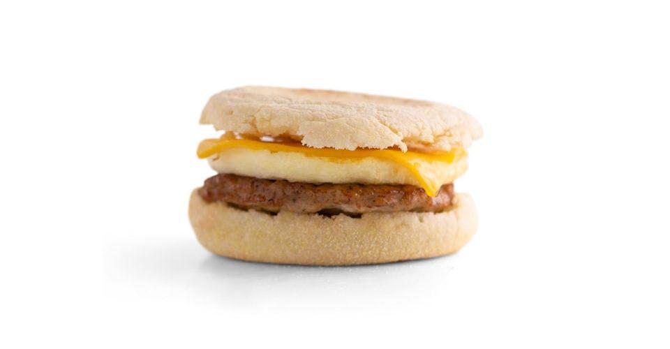 English Muffin Breakfast Sandwiches: Sausage, Egg, & Cheese Muffin from Kwik Trip - Oshkosh W 9th Ave in Oshkosh, WI