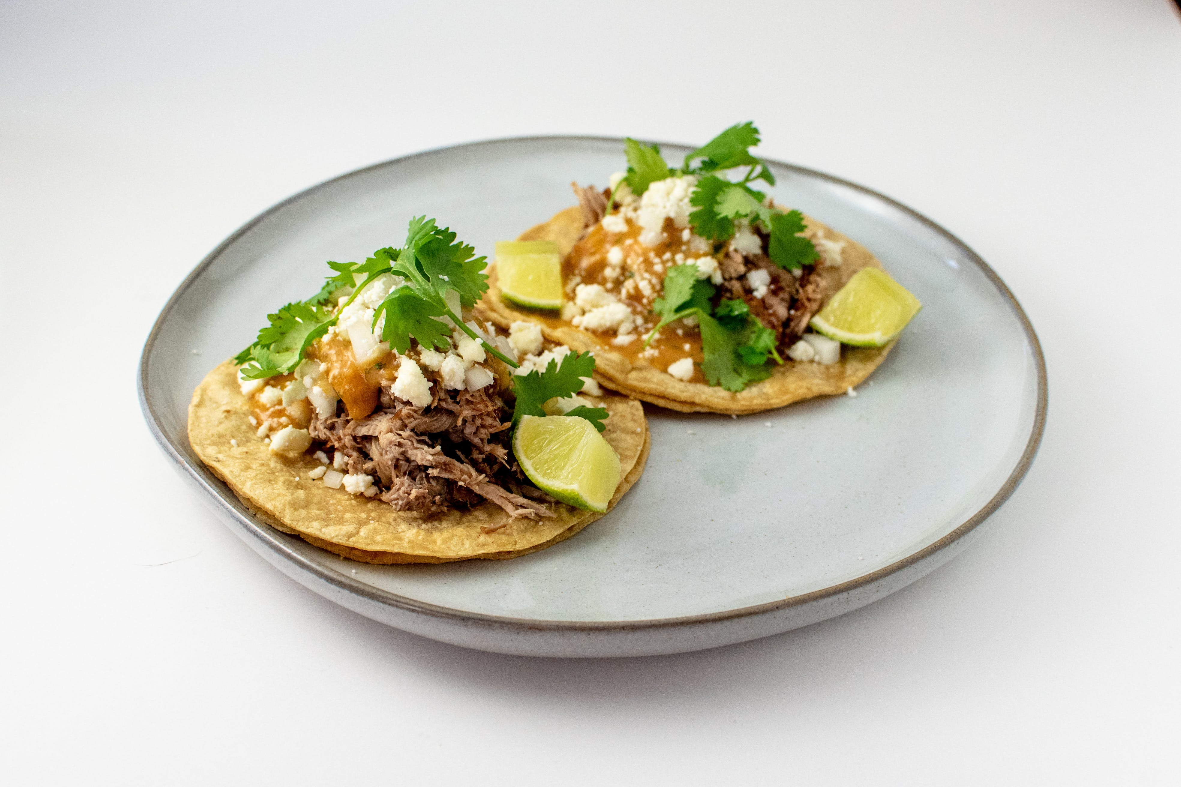 Cola Braised Pork Carnitas Tacos from Taco Royale - Center Ave in Janesville, WI