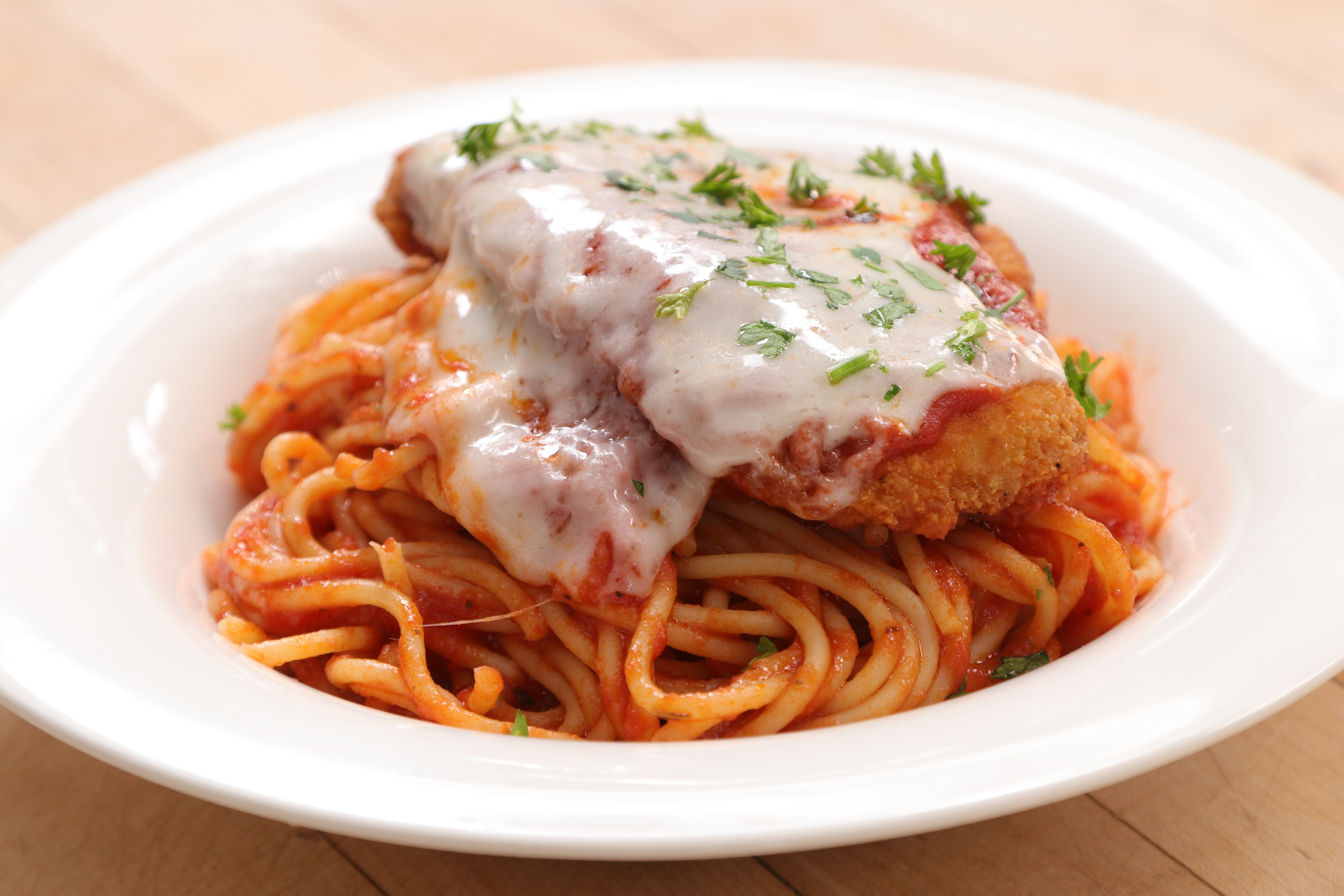 Chicken Parmigiana with Spaghetti from Ameci Pizza & Pasta - Lake Forest in Lake Forest, CA