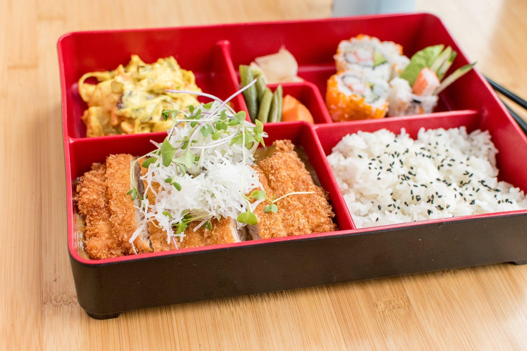 Curry Tofu Bento Box from Tavernakaya in Madison, WI