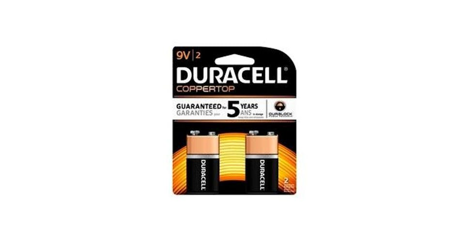 Duracell CopperTop 9V Alkaline Battery (2 ct) from CVS - Main St in Green Bay, WI