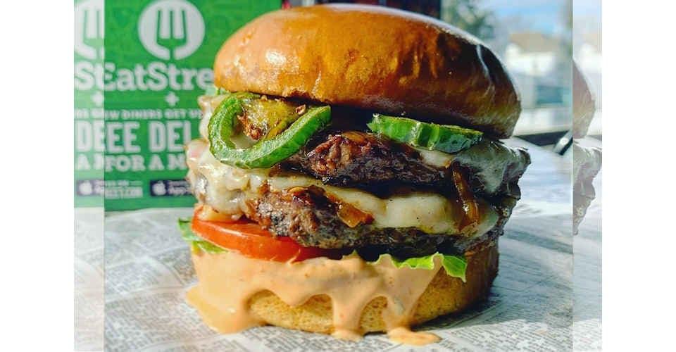 La Casa de Fuego Burger from Oh My Grill in Cedar Falls, IA