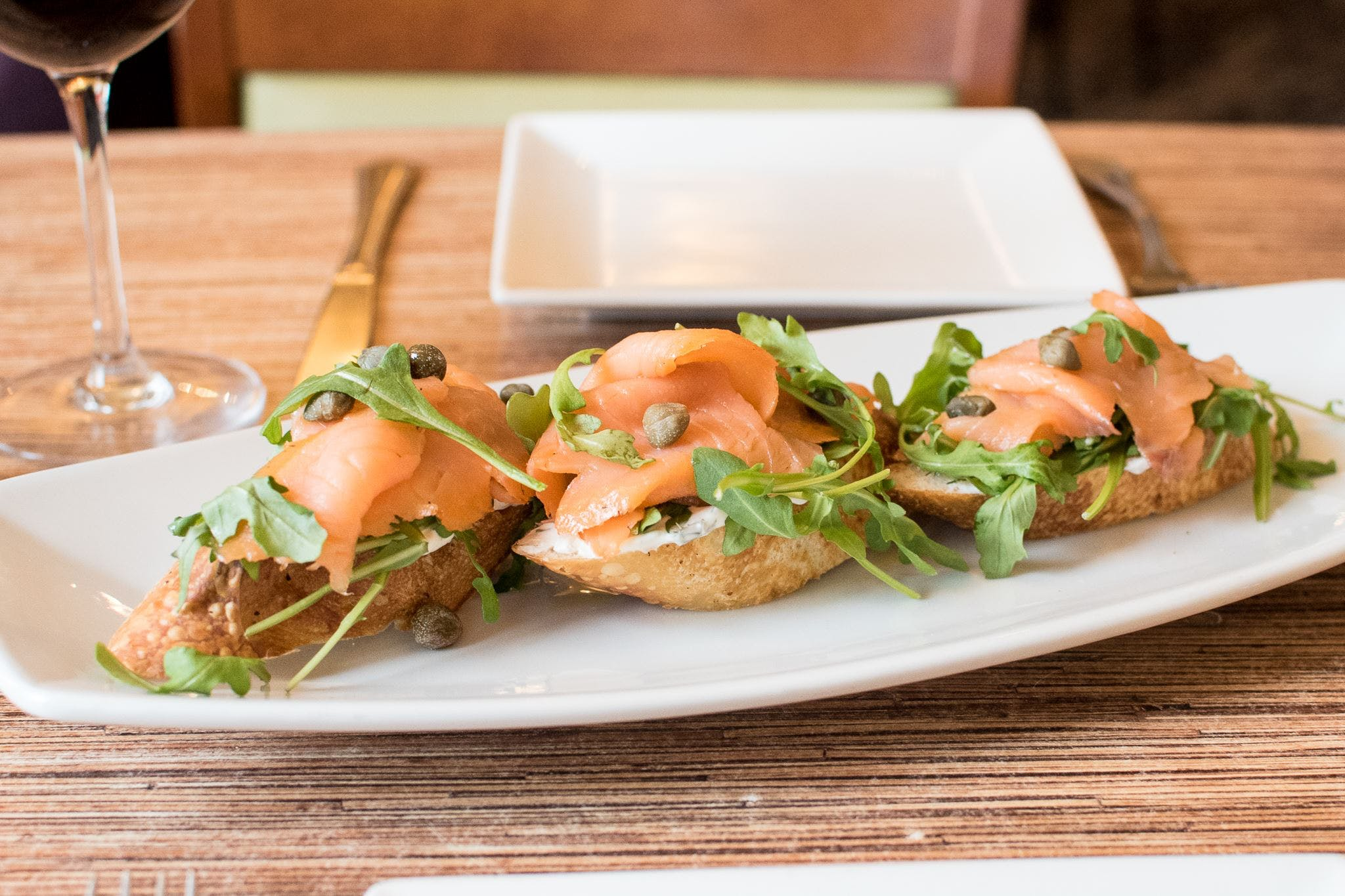 Smoked Salmon Bruschetta from Villa Dolce in Middleton, WI
