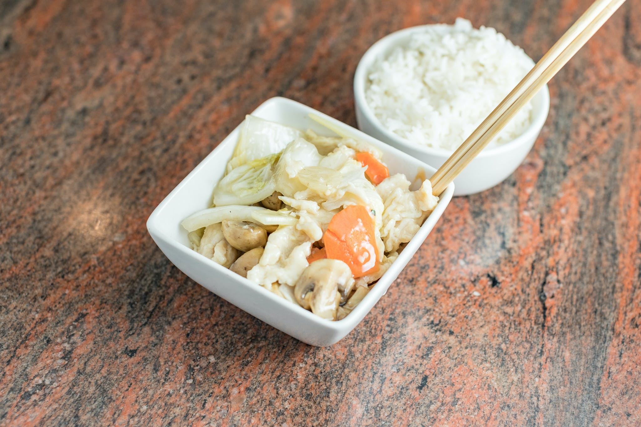 Mushroom Chicken (Moo Gu Gai Pan) from Shanghai Bistro in Eau Claire, WI