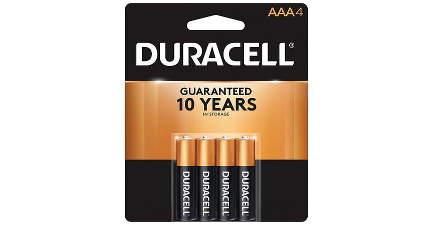 Duracell Coppertop Alkaline Batteries AAA (4 ct) from EatStreet Convenience - SW Wanamaker Rd in Topeka, KS