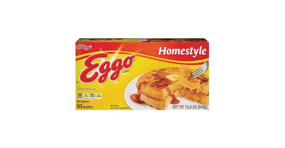 Kellogg's Eggo Frozen Waffles Homestyle 10 Count (1.23 oz) from CVS - Main St in Green Bay, WI