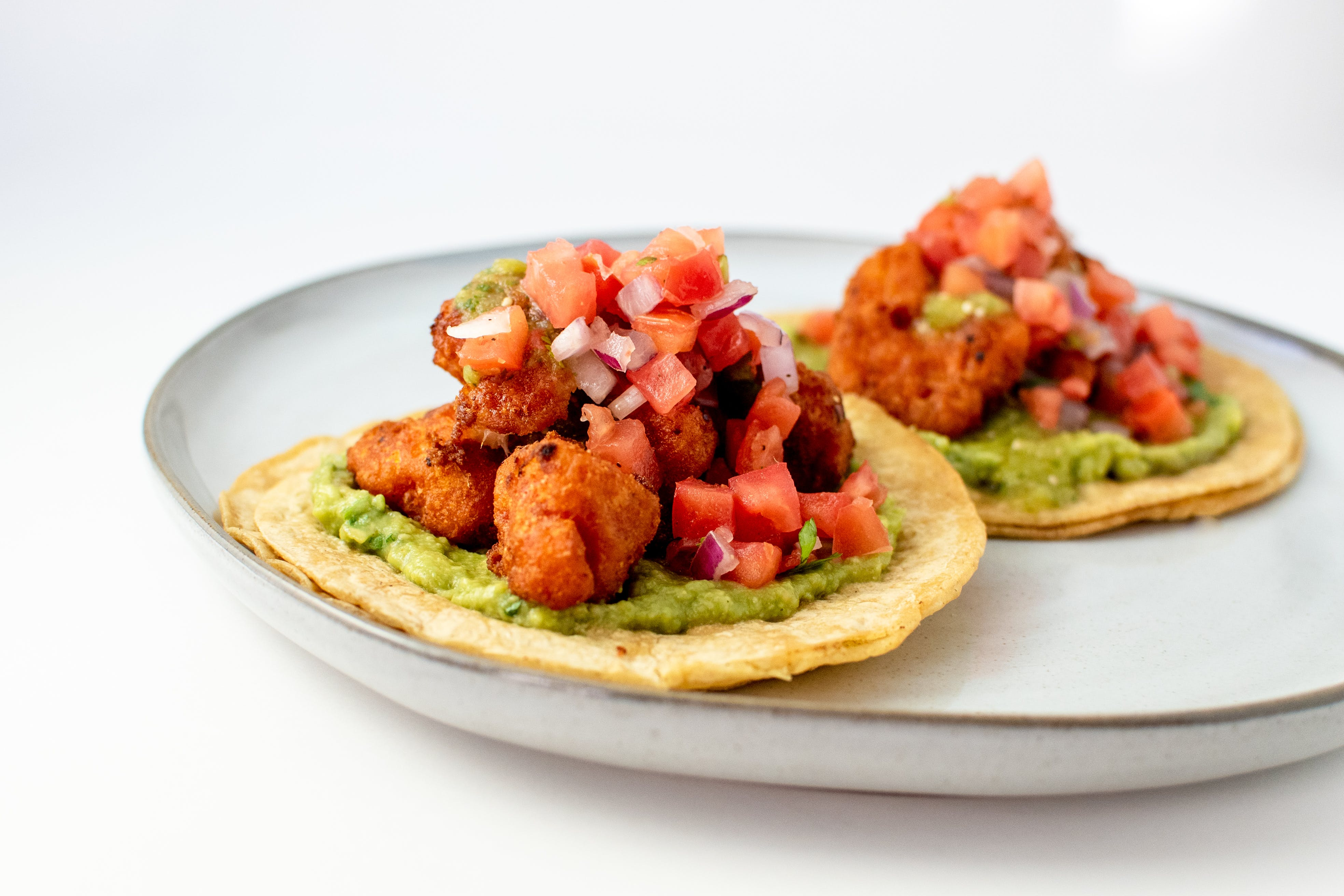 Beer Battered Cauliflower Tacos from Taco Royale - Center Ave in Janesville, WI