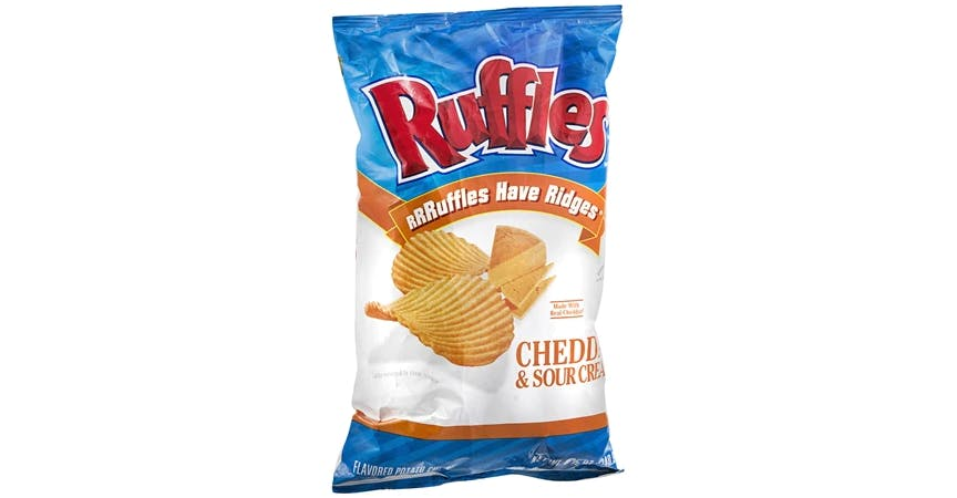 Ruffles Flavored Potato Chips Cheddar & Sour Cream (8 oz) from EatStreet Convenience - W Mason St in Green Bay, WI