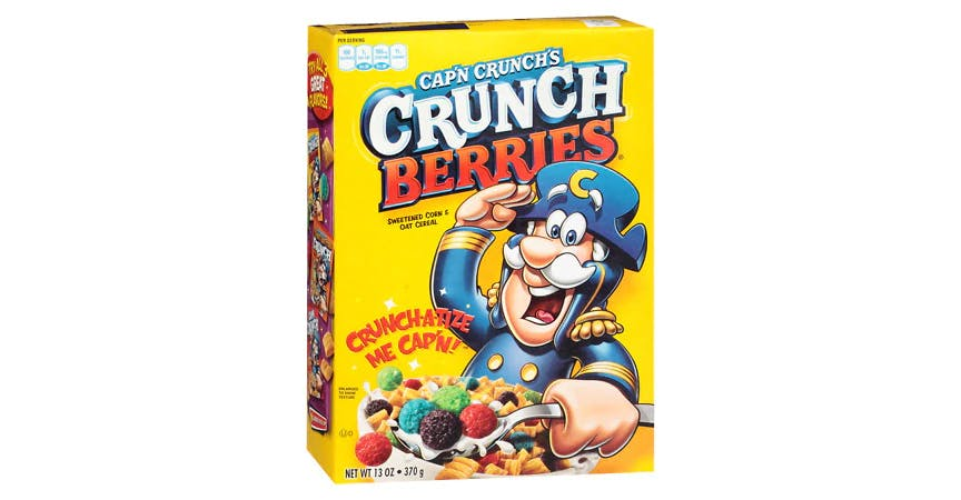 Cap'n Crunch Crunch Berries Cereal (13 oz) from EatStreet Convenience - W Mason St in Green Bay, WI