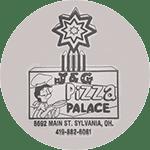 Logo for J & G Pizza Palace