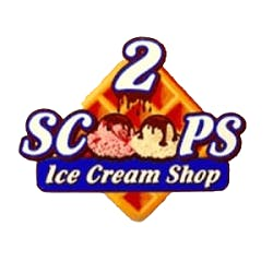 Logo for 2 Scoops Ice Cream Shop