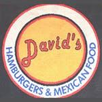 Logo for David's Hamburgers, Mexican Food & Bar