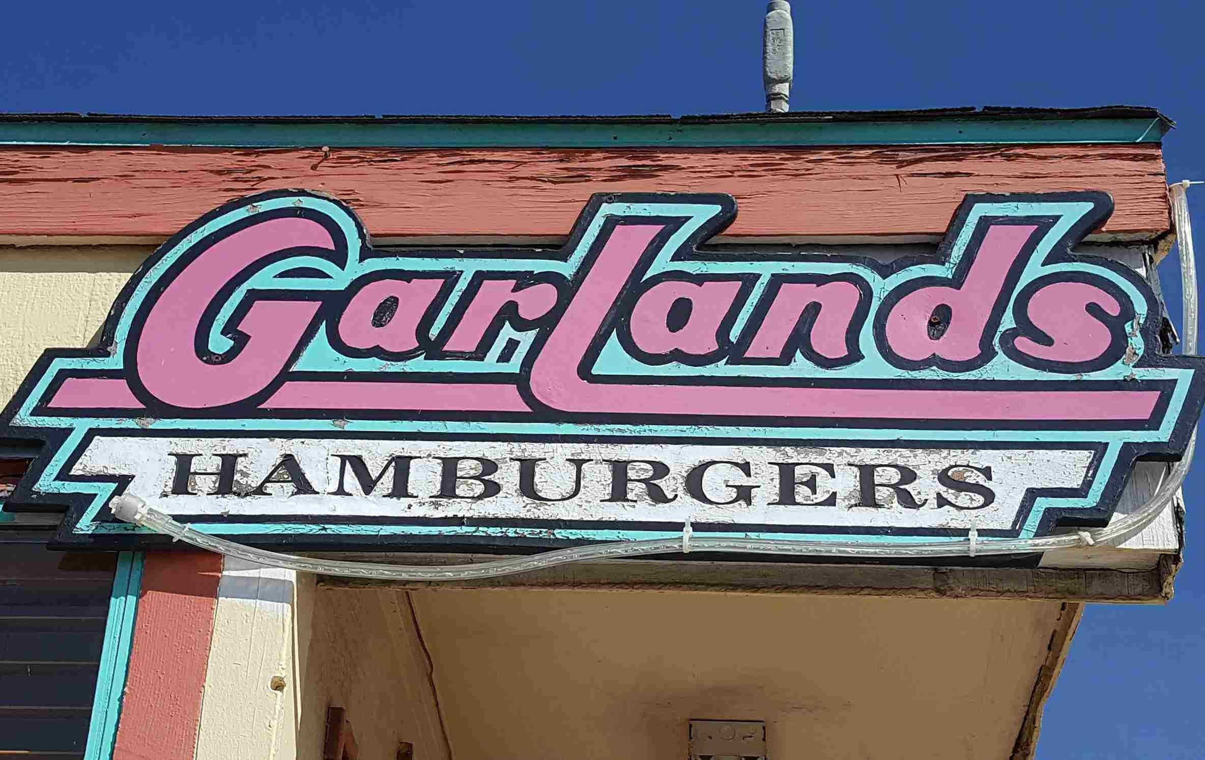 Logo for Garland's Hamburgers