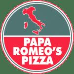 Logo for Papa Romeo's Pizza