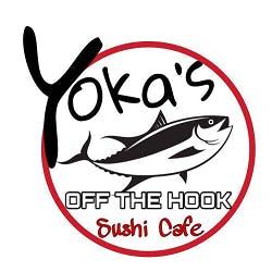 Logo for Yoka's Off the Hook Sushi Cafe