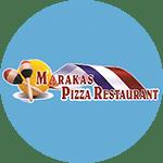 Logo for Marakas Pizza Restaurant