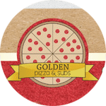 Logo for Golden Pizza Fried Chicken and Subs